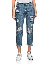 oodji Ultra Donna Jeans Boyfriend Strappati