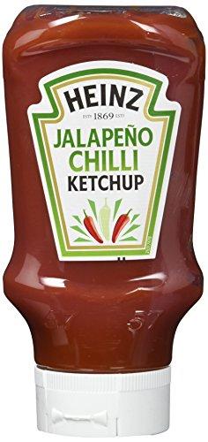 Heinz Tomato Ketchup Jalapeño Chilli, Kopfsteher-Squeezeflasche, 10er Pack (10 x 400 ml)