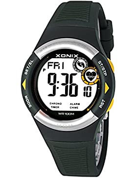Trainingsarmbanduhr XONIX Unisex mit Schrittzähler Pulsmesser Timer Alarm Stoppuhr, X8MR71H/3