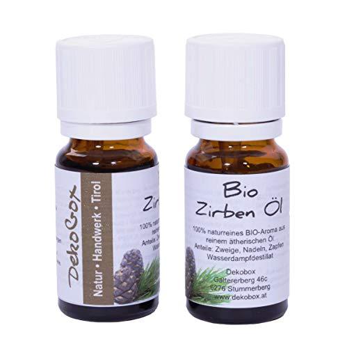 Bio Zirbenöl - Doppelpackung - 2X 10ml - 100{616f3bbddd2a0897016b92f6212c8ac8ad1bc5d7e2e85bd78d28e73916130d8d} naturrein - höchste Qualität durch Destillation