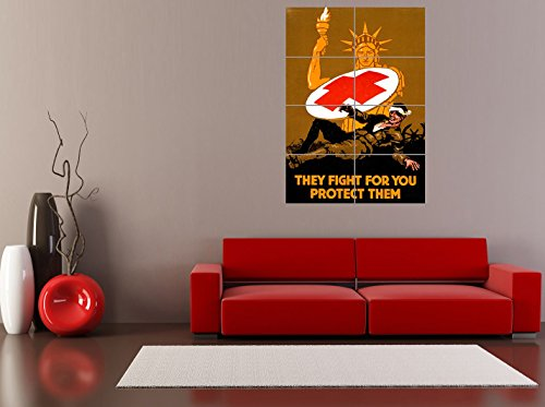 panel-art-print-propaganda-military-war-medical-red-cross-statue-liberty-soldier-reproduction-poster