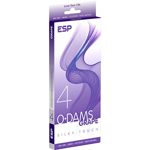 ESP Oral Dams «Grape» - 4 Latex-Schutztücher