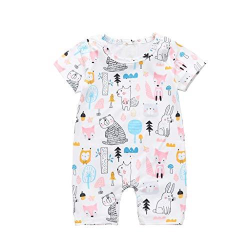 melloser Sommer Neugeborenen Baby Mädchen Jungen Dinosaurier Drucken Tiger Zebra Tier Body Strampler Overall Hose Romper Spielanzug Kleidung Outfit ()