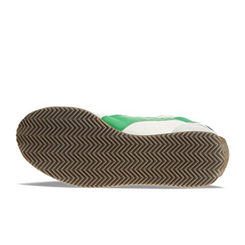 Diadora Equipe Stone Wash 12, Scarpe Low-Top Unisex Adulto C0896 - BIANCO-VERDE PRATO