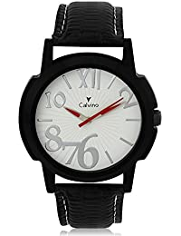 Calvino White Dial Analog Watch For Men/boys CHBCLS_176440-256_BLK_WHT
