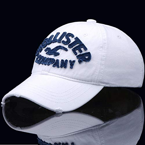 HXXBY Gezeitenmarke Hut Männer Vier Jahreszeiten Schwarz-Weiß-Schirmmütze Baseball-Cap Koreanische Version der Flut Jugend Sonnenhut lässig Wilde Kappe Student Sport Hut Hip-Hop-Hut (Color : White) (Nike Womens Pink Hut)