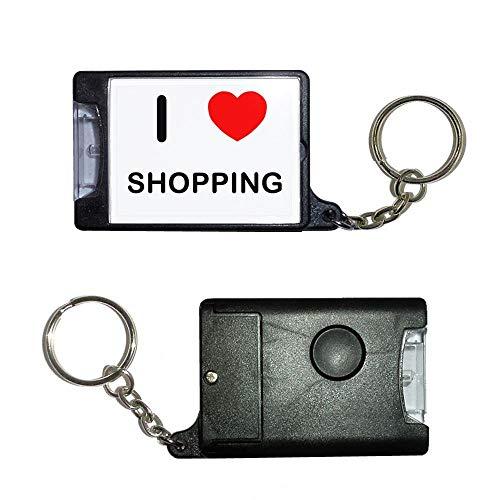 BadgeBeast.co.uk I Love Shopping - Schwarze Taschenlampe
