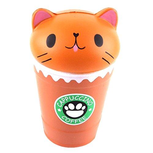 VENMO 14cm geschnitten Cappuccino Kaffeetasse Katze duftenden Squishy langsam steigende Spielzeug Sammlung Heilung Geschenk Neue schöne duftenden steigende Super Soft Squeeze Spielzeug (Coffee)