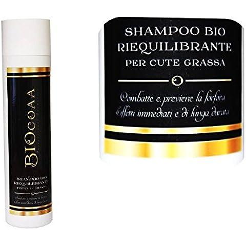 Shampoo - con estratto di ortica e bardana - effetto riequilibrante - ideale per cute grassa - biologico certificato - made in italy - 250 ml