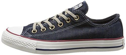 Converse, All Star Ox Denim, Sneaker, Unisex adulto, Blu (Navy Denim Washed), 44