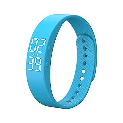 Miya T5S Smart Bracelet Watch with Vibrating Realtime Showing Waterproof Smart Wristband LED Screen Fitness Tracker Sports Sleep Smart Watch from Miya System Ltd