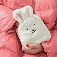 6YMN Hot Water Bottle 500ml rubber thermos ear cover portable pocket hands and feet warm children students ladies random color #T6767