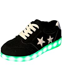 [Present:kleines Handtuch]Weiß 38 Leuchtende High Neu Light Top JUNGLEST Schuhe Led Freizeit Sport Sneakers Blinken EokTC9mo