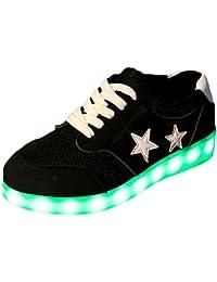 [Present:kleines Handtuch]Weiß 38 Leuchtende High Neu Light Top JUNGLEST Schuhe Led Freizeit Sport Sneakers Blinken
