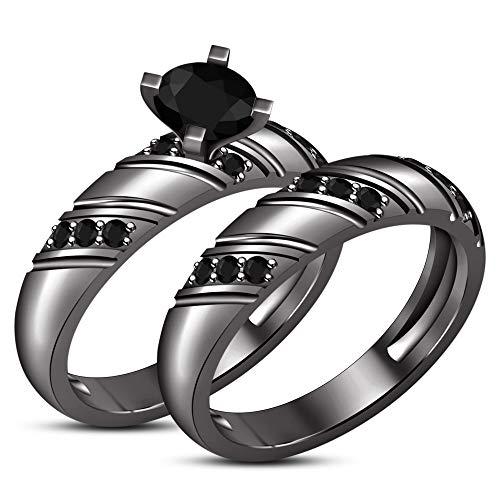 Vorra Fashion Damen Unisex - 925 Sterlingsilber Sterling-Silber 925 Rund Black