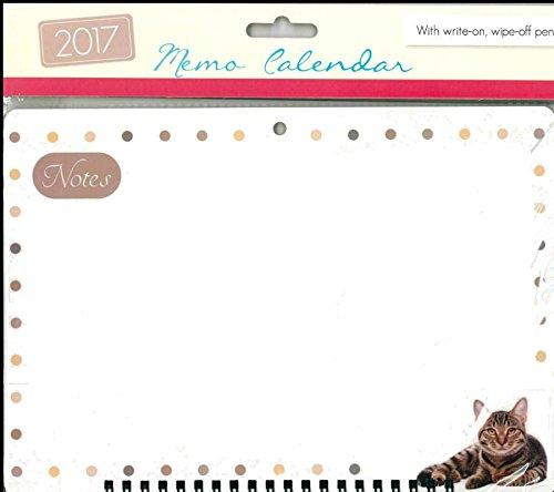 Tallon-2017a spirale Memo Calendario planner Organiser con Penna-3055Gatto - Calendario Giorno Planner