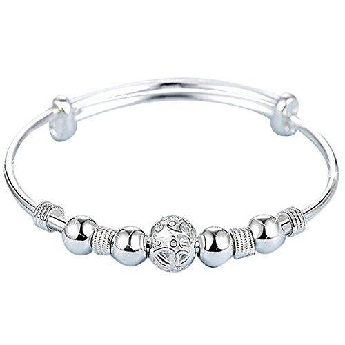 Armband Damen Armbänder Day.LIN einstellbar Armband Schmuck Silber Damen Charm Armreif Geschenk (Splitter B, EINHEITSGRÖSSE)