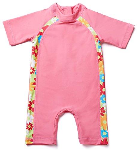 Attraco Baby Boys Girls Rash Guard Vest One Pieces Suit Swimsuit Swimwear UPF50+