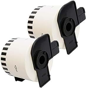 2 x DK22205 62mm x 30.48m Endlos-Etiketten kompatibel zu Brother P-Touch QL-500 QL-500A QL-550 QL-560 QL-570 QL-700 QL-710W QL-720NW QL-800 QL-810W QL-820NWB QL-1050 QL-1060N QL-1100 QL-1110NWB