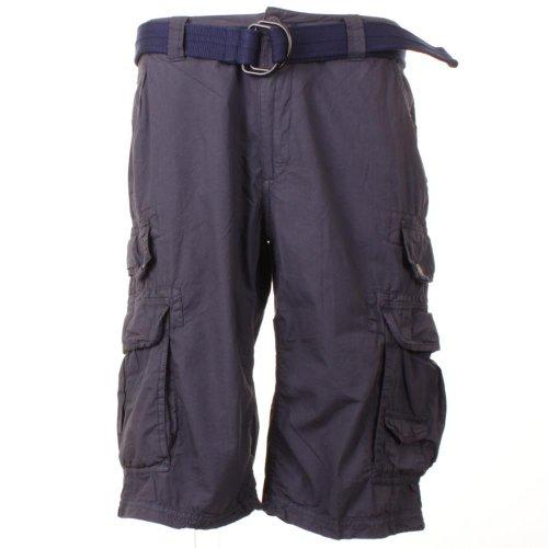 Da uomo Rodi atmosfera lunghezza al ginocchio con passaggio per cintura Cargo pantaloncini Grigio
