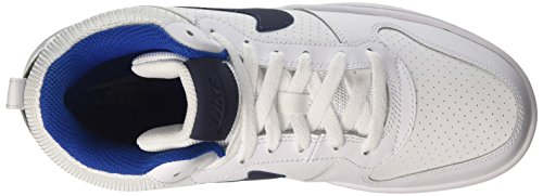 Nike Herren Court Borough Mid Basketballschuhe Elfenbein (White/thunder Blue/blue Jay)