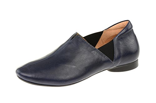 Think Slipper Damen Halbschuhe Guad blau 5-85793-82 Blau