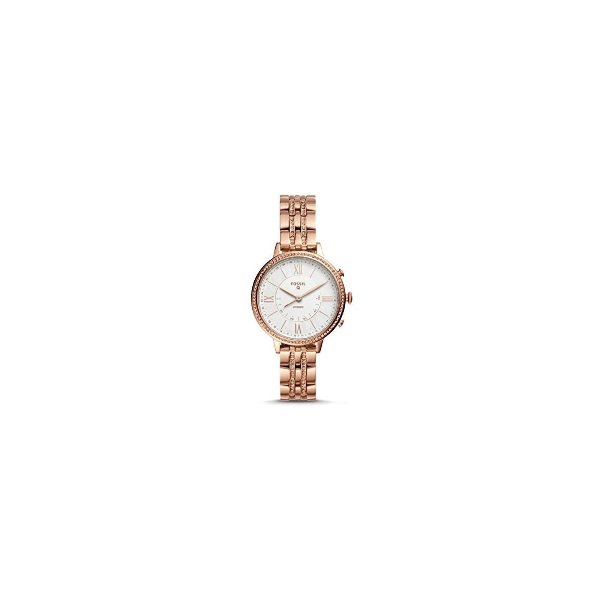 41lOLWsn3uL. SS1200  - Fossil Jacqueline Hybrid FTW5034 - Reloj Inteligente para Mujer (Acero Inoxidable), Color Oro Rosa