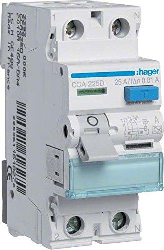 fi 10ma Hager CCA225D FI-Schalter 25A 10mA A-Typ 2-polig