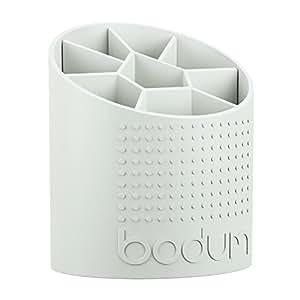 Bodum 11551-913 Bistro Porte-Ustensiles Plastique Blanc 13,20 x 15,2 x 18 cm