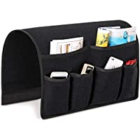 Joywell Sofa Armrest Organizer, Couch Arm Chair Caddy with 6 Pockets for Magazine, Books, TV Remote Control, Cell Phone, iPad (Sedona sage Gray)