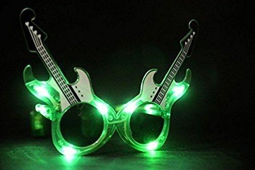 UChic 1 STÜCKE Gitarre Gitarrenform LED Blinkt Brillen Licht-Up Brille Glow Augenmaske Musik Party Hochzeit Dekoration Farbe Zufällig
