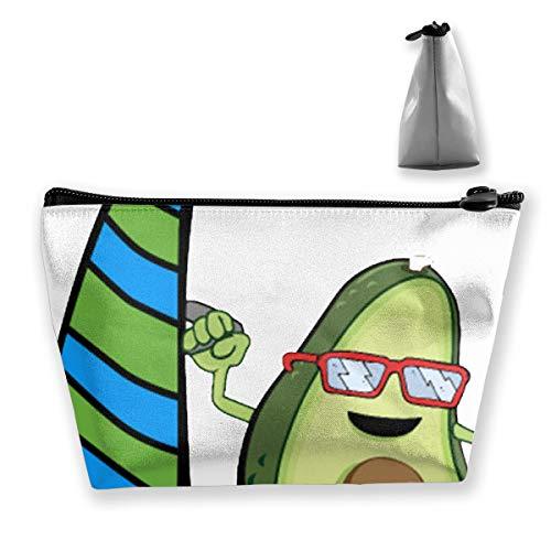 Urfing Avocado Mit Brille Erwachsene Sport1 Tixing Trapez Reise Make-Up Tasche Kosmetiktaschen 7x12x22 CM
