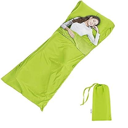 Silk Soft Sleeping Bag Liner - Lightweight Travel Sheet Camping Sleep Bag Prevent Dirty On Business Hotel 1