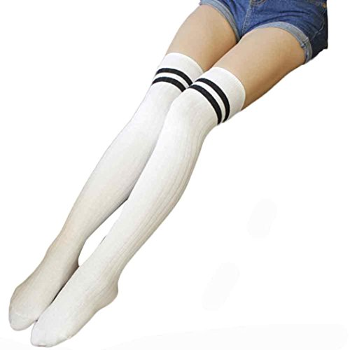 Strümpfe Damen Kolylong®Frau Socken über Knie Frau, die klassische gestreifte Langarm-Kniestrümpfe (Länge:55cm / 22