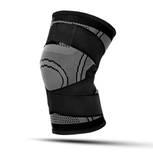 CHOULI Männer & Frauen Sport Kniebandagen Kniebandagen Compression Elastic Fitness Support Schwarz XL -
