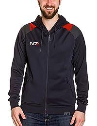 Mass Effect Men Hooded Jacket Andromeda N7 Logo Black