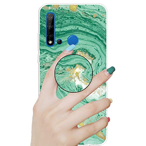 Stylishen Glamour Glitzer Bumper Hülle für Huawei P20 Lite 2019 /Nova 5i,Glänzend Bling Glitzer Kristall Diamond Durchsichtig Crystal TPU Silikon Gel