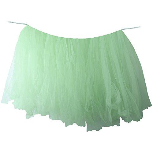 LIUYUNE,Tischrock handgefertigter Tüll für Geburtstagsfeier/Hochzeit/Baby Shower/Home Decoration(color:HELLGRÜN)