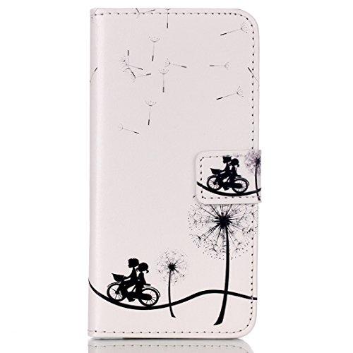 CareyNoce PU Leder Wallet Case Folio Schutztasche für iPhone 6/6S (4,7 Zoll) Tasche Hülle Handytasche Etui Schale Backcover Flip Cover im Bookstyle mit Standfunktion Kredit Kartenfächer (DON'T TOUCH M M02