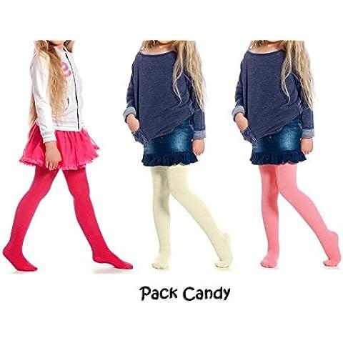 Pack di 3 o 6 collant colorati