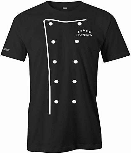 Koch Jacke - WEISS - Herren T-Shirt in Schwarz by Jayess Gr. L ()