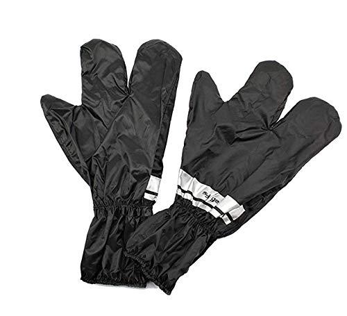 BISOMO Regenhandschuh Regenüberzieher universal schwarz mit Reflexstreifen (5-306)