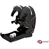 e-Raptor era19040pequeño dados Torre dragón Juego de tablero, negro