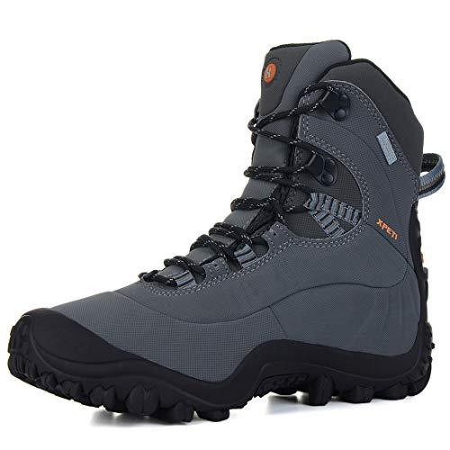 XPETI Scarpe Trekking Donna Estive, Impermeabili Montagna Alpinismo da Trekking Mid Calzature Femminili Escursionismo Trail Scarponcini per Camminare Neve Grigio 38