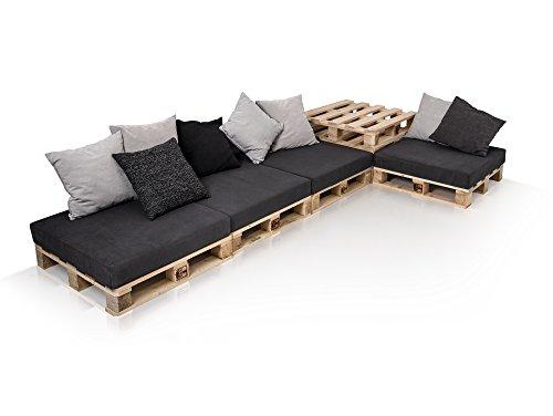PALETTI Sofalandschaft II Sofa aus Paletten Fichte natur, Fichte natur