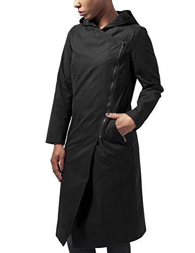 Urban Classics Ladies Peached Long Asymmetric Coat, Giubbotto Donna, Nero (Black 7), 44