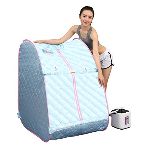 Lee 54069 ADKINC Sauna a Vapore, Sauna Portatile Gonfiabile per Uso Domestico, Tenda per Sauna a Vapore con idromassaggio per aromaterapia con misuratore di Vapore e Telecomando