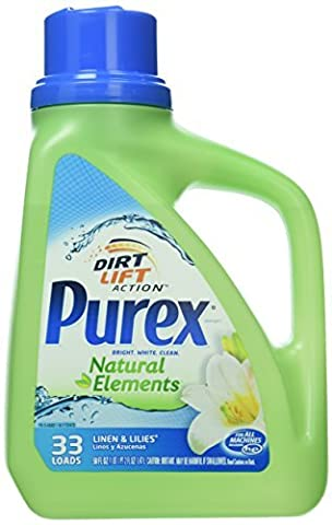 Purex Natural Elements Laundry Detergent Liquid, Linen & Lilies, 50 fl oz by Purex