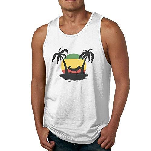d62aba49729 Rasta Flag Coconut Tree Men s Basal Muscle Sleeveless Shirt Tank Top Vest