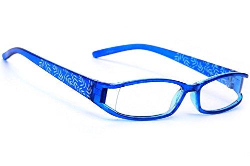 MFAZ Morefaz Ltd Slim Damen Herren Brille CLEAR LENS Saubere Linsen 0.00 (Blue Twigs)